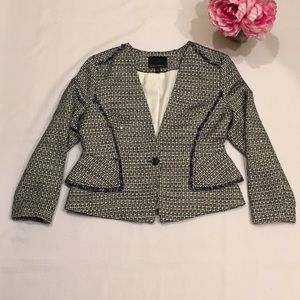 Banana Republic tweed peplum sparkle blazer